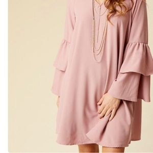 Altar'd State Boho Dress with Bell Sleeves